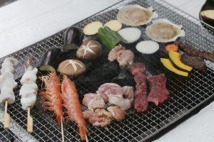 ルネス軽井沢のテラスでバーベキュー追加注文で食材セット